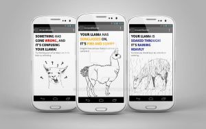 Llama weather app - created for deviantART! by Agnulessa