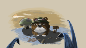 Teemo Puppy is not amused :) by artoftang
