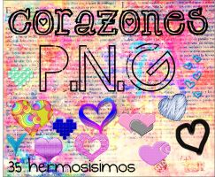 #Corazones PNG by Sophiafacal