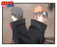 Itachi and Pain by k11n