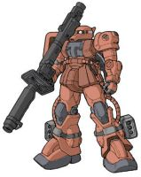 MS-06J in D. Gallagher Colors by swordoath