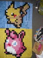 Crazy long-term work in progress pokemon quilt... by SilkenCat