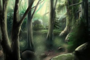 Forest Landscape by DarkHalo4321