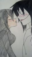 Jeff the killer X Lizzy the artistic killer by Sin1039