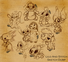 Lilo and Stitch Sketch Dump by parochena