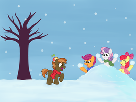 snowball fight by Cool-Party