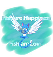 Fish are Love and Happiness by saphushia