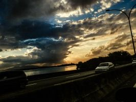 Sunset from the bridge by danieladill