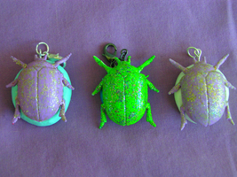 Bug Crew Collection of Pendant Charms by VoltaicCreations