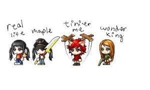 me in different worlds ouo by xnyumix