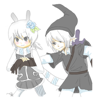 Sasuu and Dark Link by silentsasuke