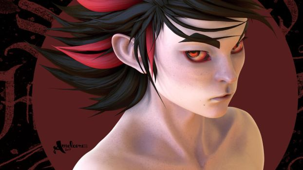 Humanization of Shadow the hedgehog by amelcore