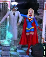 Supergirl vs Mad Scientist by Terrymcg