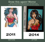 Draw This Again - Wonder Woman ACEO by ArtOfRivana