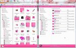 Transparent and pink win 7 by Andrada24T