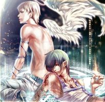 .AngeL X DEviL.Brighten me. by sakimichan