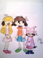 PTR: PaRappa's Cousins colored by LittleMissAly