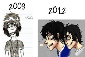 The Jack Facial Improvement 2009 - 2012 by LittleSpaceStars