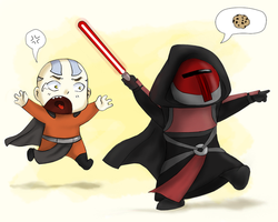 Dark Lord Revan Wants a Cookie by Purple-Twilek