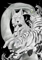 snow and water tiger by Temerain