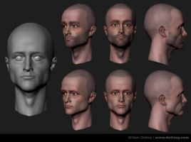 Pinkman WIP Face 01 by WilliamDettrey