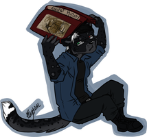Totally not hiding under a book by the-MadDog