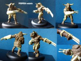Minotaur detail, 58mm by Papah-minis