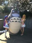 Panty and Stocking...and Totoro? by stephinika