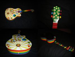 Hippie Guitar by rumpelnielzchen