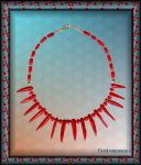 BAMBOO CORAL SPIKE COLLIER by Voodoomamma