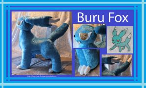 Buru Fox Plush - Commission - Original Character by Forge-Your-Fantasy