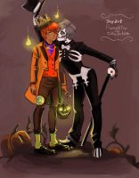 Pumpkin King and Bone Daddy by sosokrazy