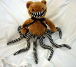Brown Teddy Bear Tentacle Monster by RebeccaStefun
