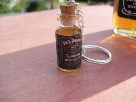 Jack Daniels miniature bottle charm keychain by InsaneJellyBean95