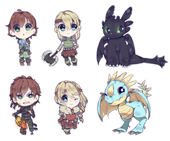 HTTYD Stickers by osu24-7