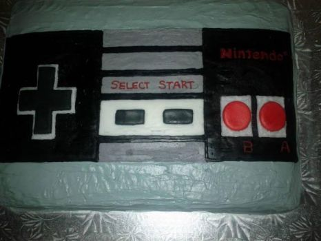 NES controller cake by didi510