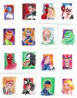 Marvel 70th sketch cards by jFury