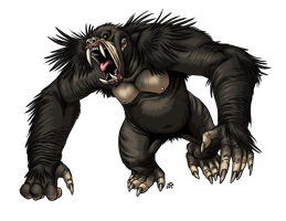 Dire Ape by ProdigyDuck