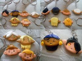 Dragon Age Keychains by StrawberryL