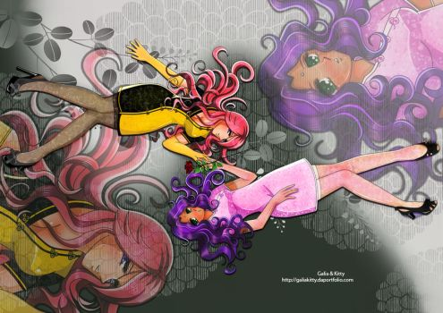 Utena and Anthy by galia-and-kitty