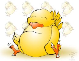 Fat Chocobo by tettra
