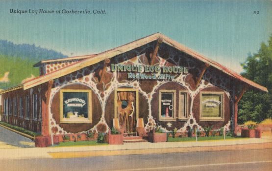 Vintage Shopping - Log House, Humboldt Co. CA by Yesterdays-Paper