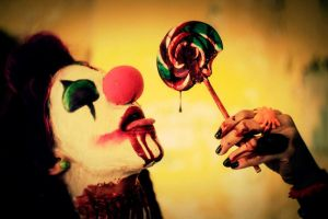 Evil Clown Drinking Blood by editingninja