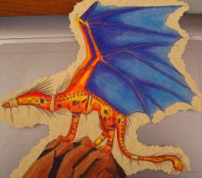 Colored Pencil Dragon two by PlumiiraCreature