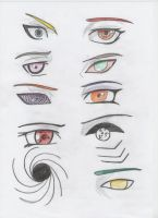 akatsuki eyes by Kimaruuww