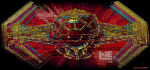Technicolor Tie Fighter by CB3723