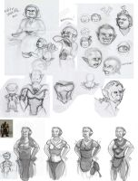 Dungeons and Dragons Art test - Orc cook sketches by RedPaints
