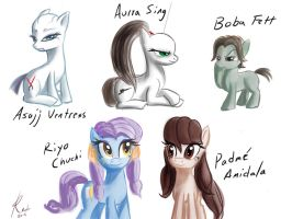 More ponified tcw characters by Raikoh-illust