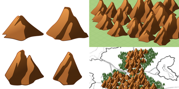Cute Map Icons: Mountains by noeinan