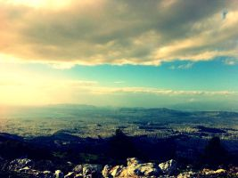 great view of Athens by frapedara